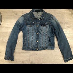 Forever 21 Studded Jean Jacket